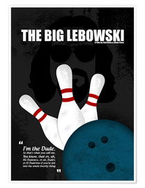 Premium-Poster  The Big Lebowski - Minimal Movie Film Kult Alternative - HDMI2K