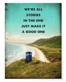 Premium-Poster  Alternative Doctor Who TARDIS Film Art - 2ToastDesign