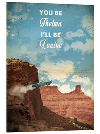 Acrylglasbild  alternative thelma and louise retro film art - 2ToastDesign
