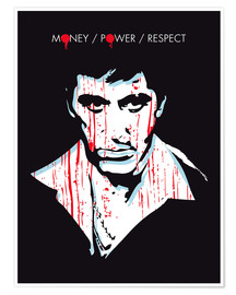 Premium-Poster alternative scarface tony montana film art