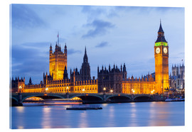 Acrylglasbild  Big Ben und Westminster Bridge in London