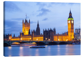 Leinwandbild  Big Ben und Westminster Bridge in London