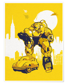 Premium-Poster alternative retro transformers bumblebee  art
