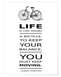 Premium-Poster Life is like riding