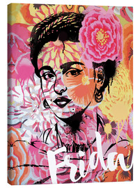Leinwandbild  Frida Kahlo Pop Art - Nory Glory Prints