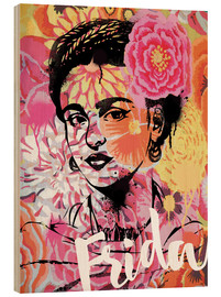 Holzbild  Frida Kahlo Pop Art - Nory Glory Prints