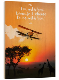 Holzbild  Out of Africa - Nory Glory Prints