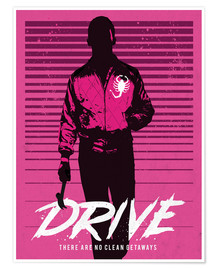 Poster  Drive ryan gosling movie inspired art - Golden Planet Prints