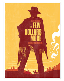 Premium-Poster  For a few dollars more western movie inspired - Golden Planet Prints