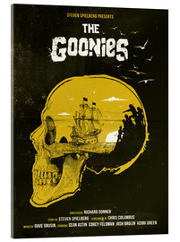 Acrylglasbild  The Goonies movie inspired skull never say die art - Golden Planet Prints