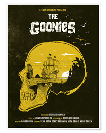 Poster  The Goonies movie inspired skull never say die art - Golden Planet Prints