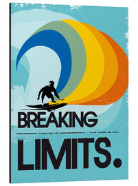 Alubild  Retro Surfer Design breaking limits art - 2ToastDesign