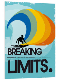 Hartschaumbild  Retro Surfer Design breaking limits art - 2ToastDesign