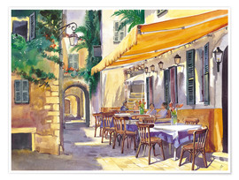 Poster  Cafe Provence - Paul Simmons