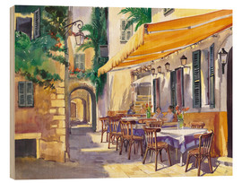 Holzbild  Café in der Provence - Paul Simmons