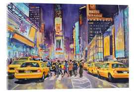 Acrylglasbild  Times Square bei Nacht - Paul Simmons