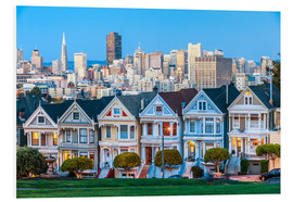 Hartschaumbild  Painted Ladies, San Francisco