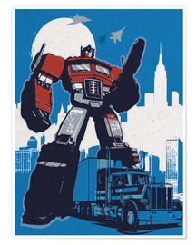 Premium-Poster alternative optimus prime retro transformers art