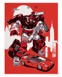 Premium-Poster alternative sideswipe retro transformers art