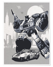 Premium-Poster alternative jazz retro transformers art