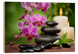 Wellness-Stillleben mit Orchideen