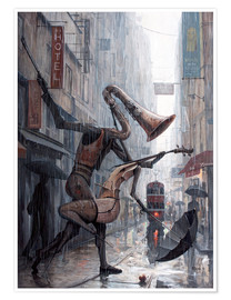 Premium-Poster  Life is a dance in the rain - Adrian Borda