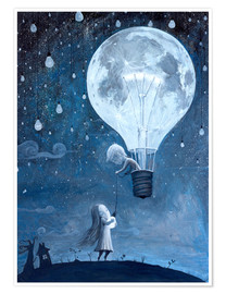 Poster  He gave me the brightest star - Adrian Borda