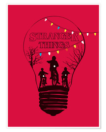 Premium-Poster  Alternative Stranger Things red version art - Golden Planet Prints