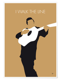 Premium-Poster Johnny Cash - I Walk The Line