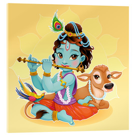 Acrylglasbild  Baby Krishna - Kidz Collection