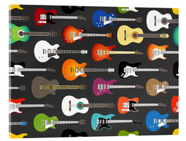 Acrylglasbild  Gitarren-Muster - Kidz Collection