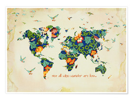 Poster  Not all who wander are lost - Mandy Reinmuth