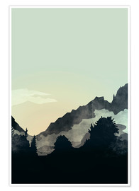 Premium-Poster Misty Mountain