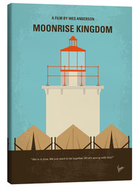 Leinwandbild  No760 My Moonrise Kingdom minimal movie poster - chungkong