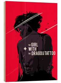 Holzbild  The Girl with The Dragon Tattoo - Fourteenlab