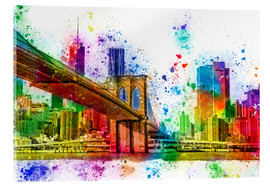 Acrylglasbild  New York mit Brooklyn Bridge - Peter Roder