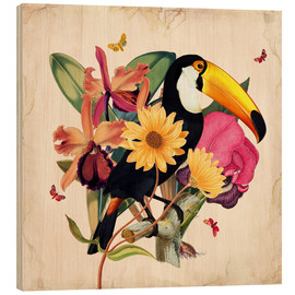 Holzbild  Oh My Parrot XII - Mandy Reinmuth
