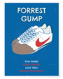 Premium-Poster  alternative forrest gump sneakers art - 2ToastDesign