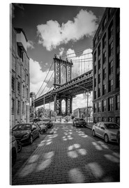 Acrylglasbild  NEW YORK CITY Manhattan Bridge - Melanie Viola