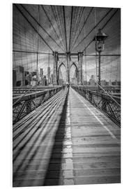 Hartschaumbild  NEW YORK CITY Brooklyn Bridge - Melanie Viola