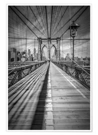 Poster  NEW YORK CITY Brooklyn Bridge - Melanie Viola