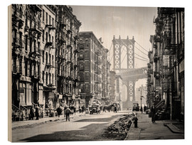Holzbild  Historisches New York: Pike and Henry Streets, Manhattan - Christian Müringer