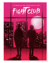 Poster  Fight club movie scene art - 2ToastDesign