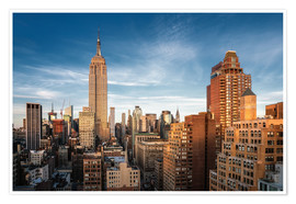 Premium-Poster Empire State Building New York