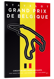 Acrylglasbild  My F1 FRANCORCHAMPS Race Track Minimal Poster - chungkong