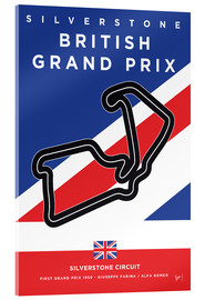Acrylglasbild  My F1 SILVERSTONE Race Track Minimal Poster - chungkong