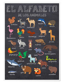 Poster  Alphabet der Tiere - Spanisch - Kidz Collection