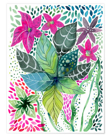 Premium-Poster Leafy Tropical