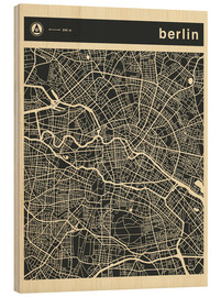 Holzbild  BERLIN CITY MAP - Jazzberry Blue