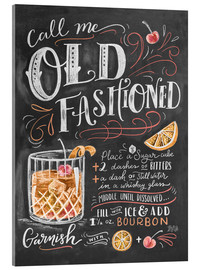 Acrylglasbild  Old Fashioned Rezept (Englisch) - Lily & Val